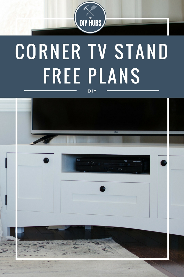 This corner TV stand allows you to maximize the space in your livingroom while still acting as a functional piece offurniture with storage.