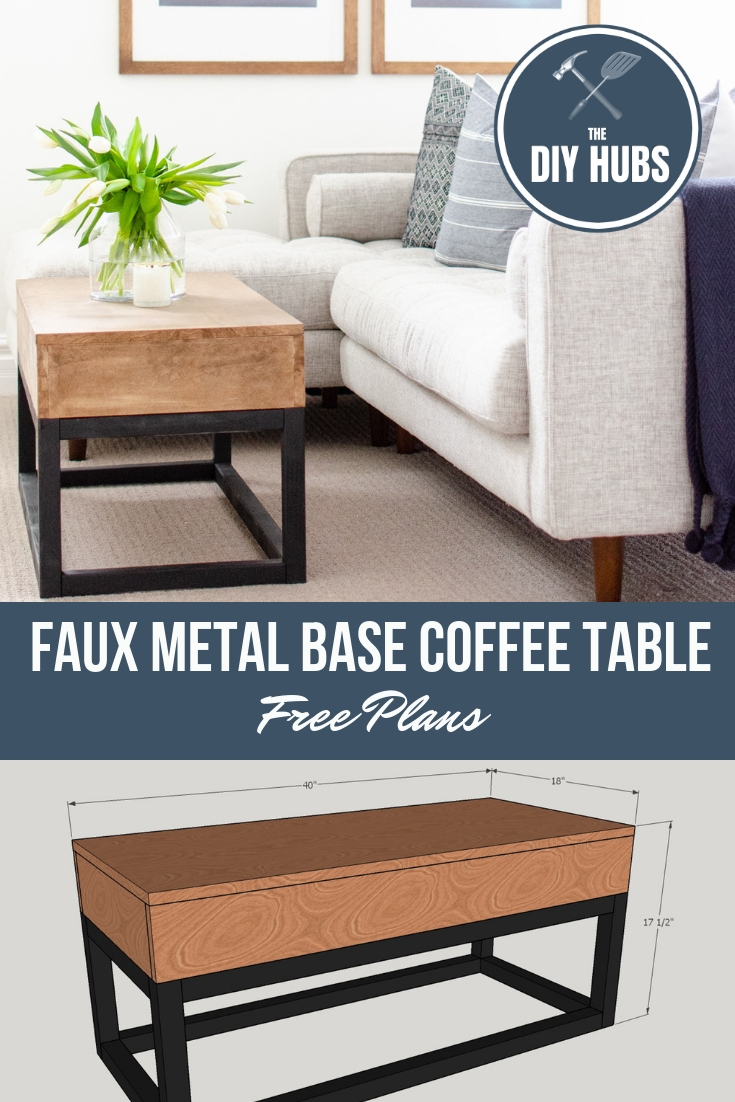 Astounding Faux Metal Coffee Table Free Plans The Diy Hubs Ibusinesslaw Wood Chair Design Ideas Ibusinesslaworg