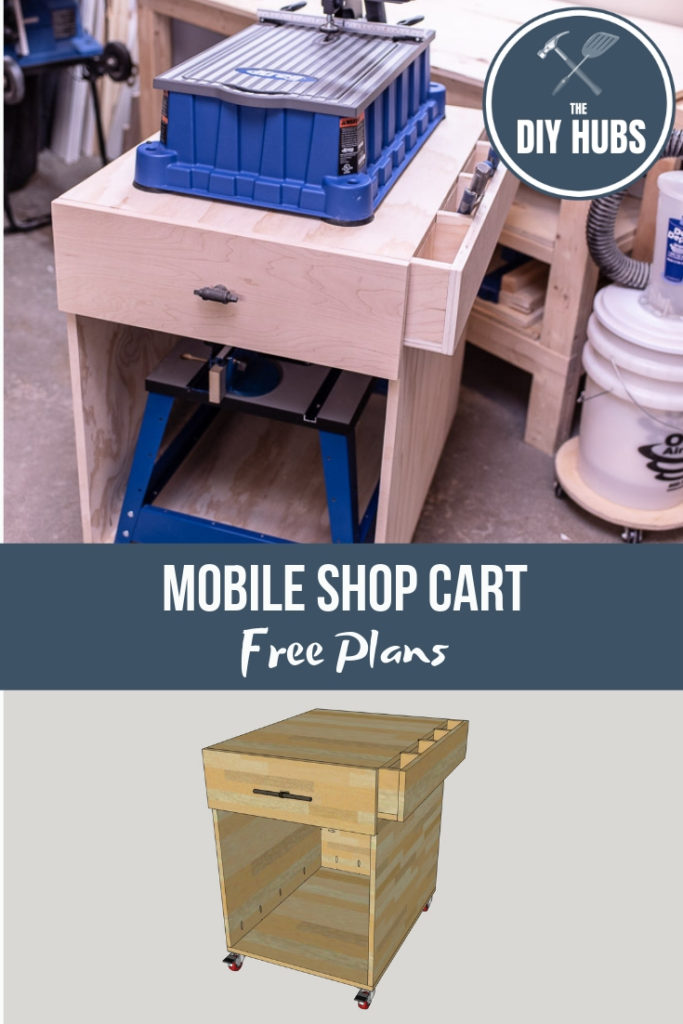 These Mobile Cart Plans are an easy beginner-intermediate project for the DIY'er!